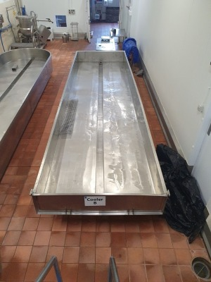Stainless Steel Cooling/Draining Table with Square End - 6600mm x 1850mm x 950mm Tall