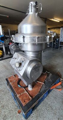 Alfa Laval type HMRPX314 HGV74C Separator complete with Base Plate, Controls, Tools, Bowl and Stack