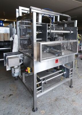 Yorkshire Packaging Systems type 160 Stainless Steel Shrinkwrapper and Heat Tunnel - 21 Bottles in 3 x 2 Format