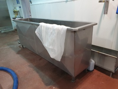 2 off Stainless Steel Wash Troughs - 2500mm x 500mm x 1000mm High, 4500mm x 300mm x 300mm High