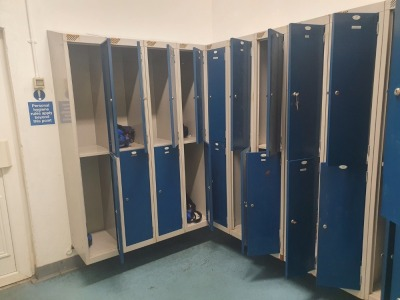 14 off Twin Door Wall Mounted Personnel Lockers