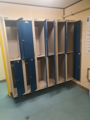 6 off 4 Door Personnel Lockers